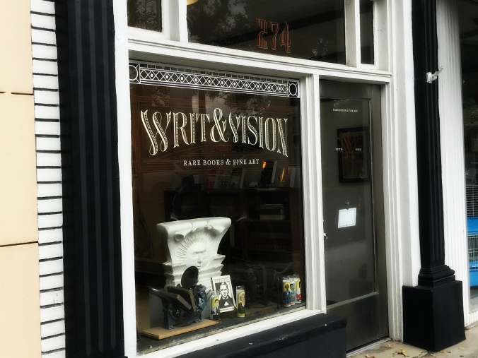 Writ and Vision storefront